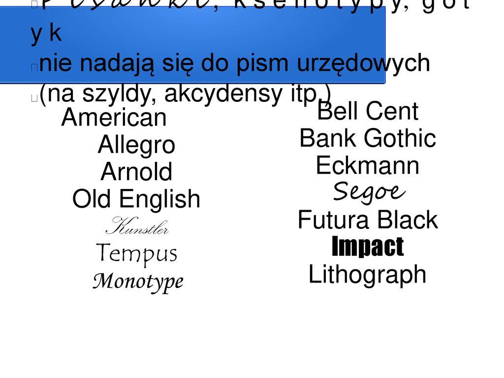 Typografia pisma urzędowego - ppt pobierz