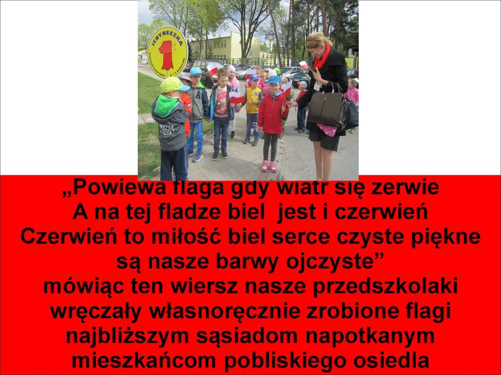 święto Flagi W Przedszkolu Samorządowym Nr 1 W Białymstoku