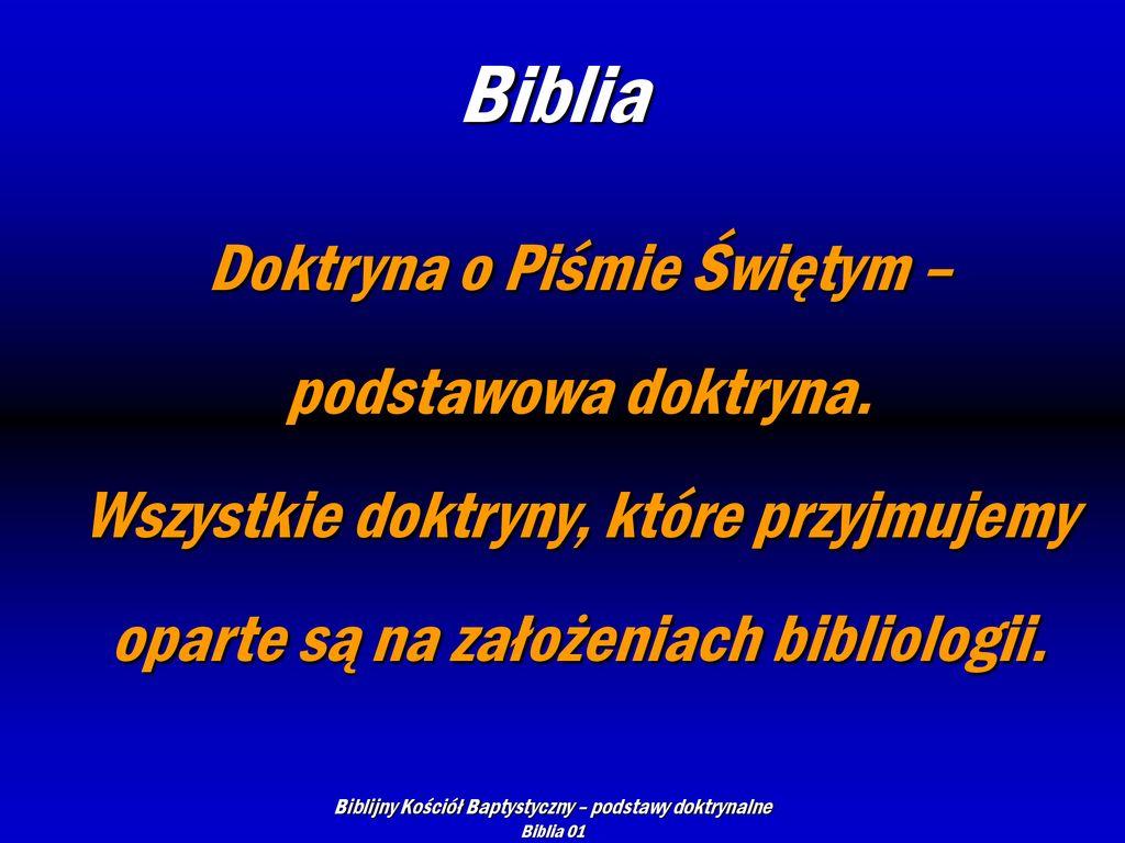 Biblijny Kościół Baptystyczny Podstawy Doktrynalne Ppt Pobierz