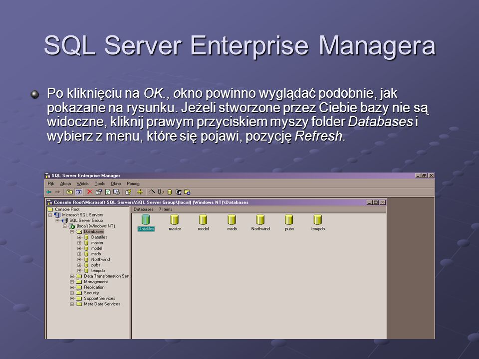 SQL Server Enterprise Managera