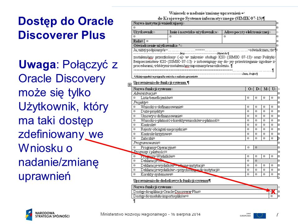 Dostęp do Oracle Discoverer Plus