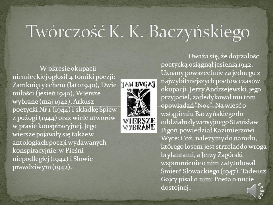 Krzysztof Kamil Baczyński Ppt Video Online Pobierz
