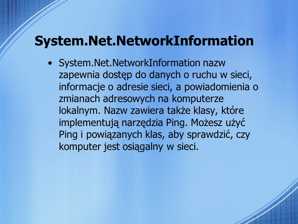 System.Net.NetworkInformation