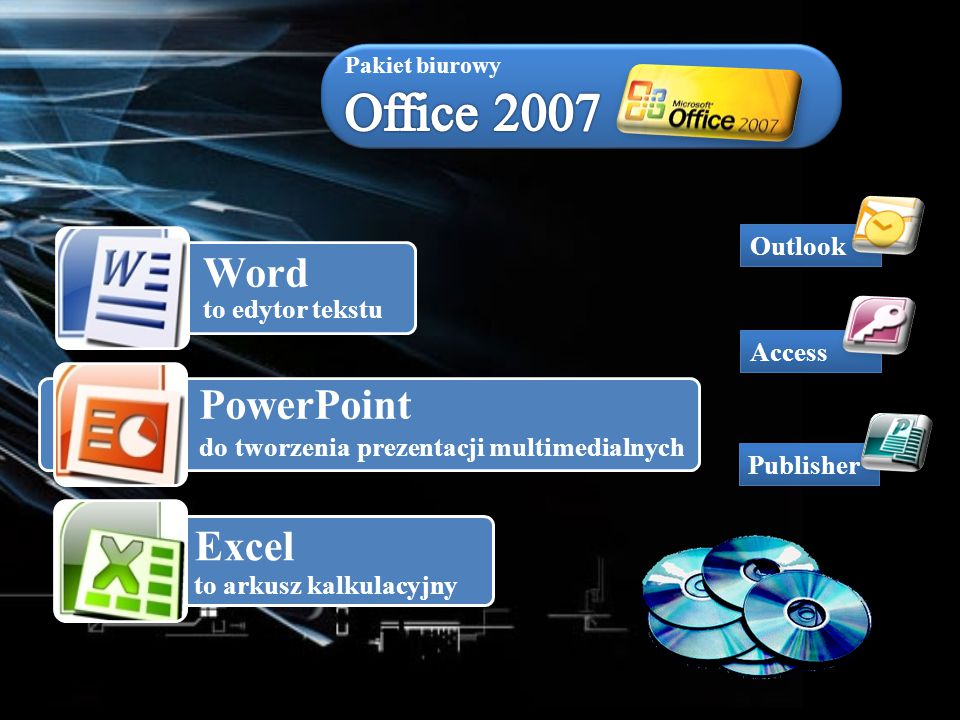 Pakiet biurowy Office 2007 Outlook Access Publisher