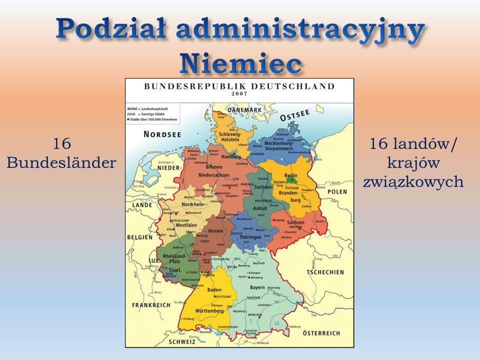 Niemiec bawaria mapa landy Landy niemieckie
