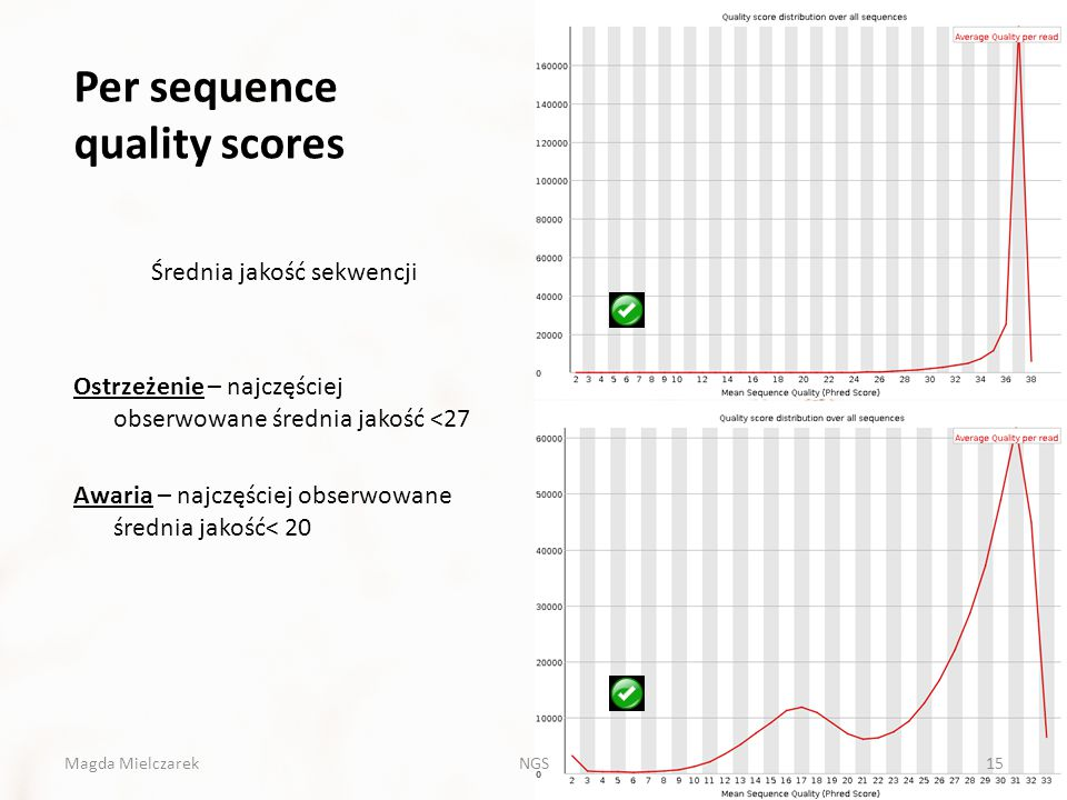 Per sequence quality scores