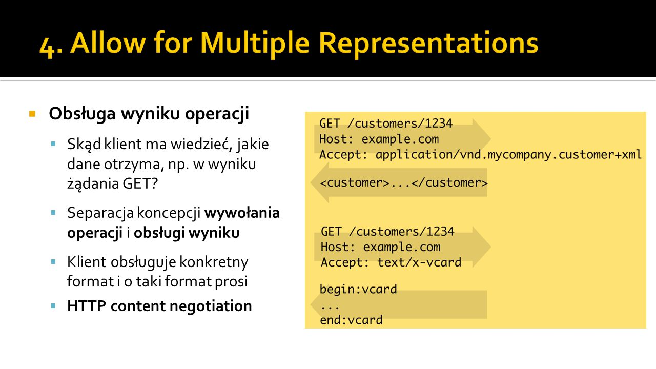 4. Allow for Multiple Representations