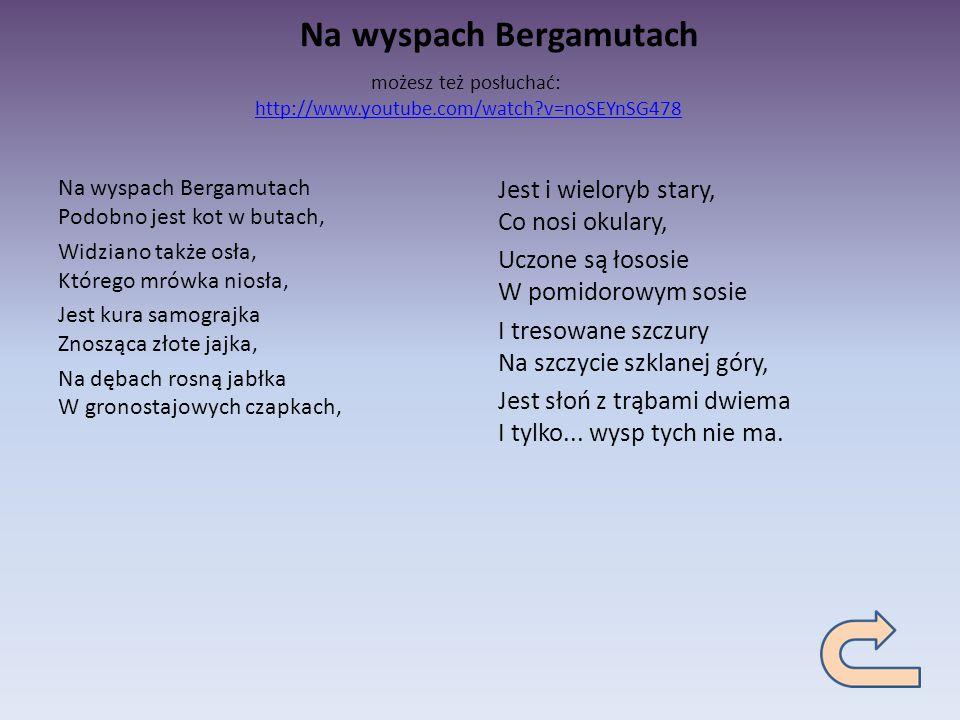 Jan Brzechwa Na Wyspach Bergamutach Wiersz Wiersz Obrazu