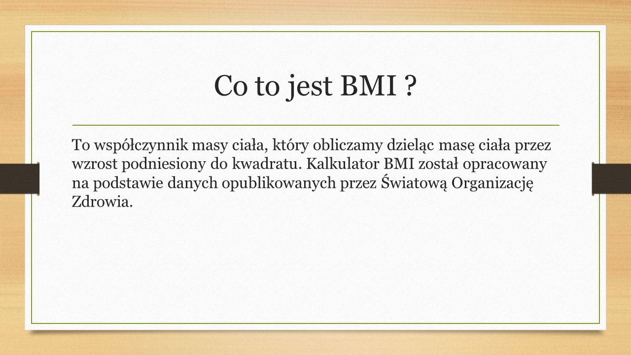 Co to jest BMI