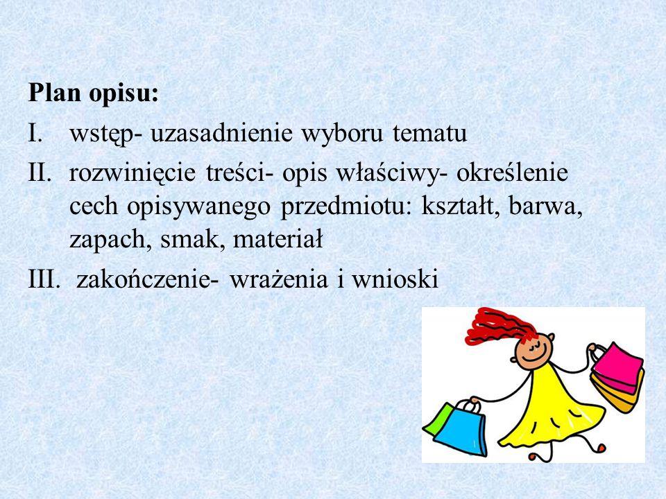 Opis jako forma wypowiedzi pisemnej w programie klas początkowych ...