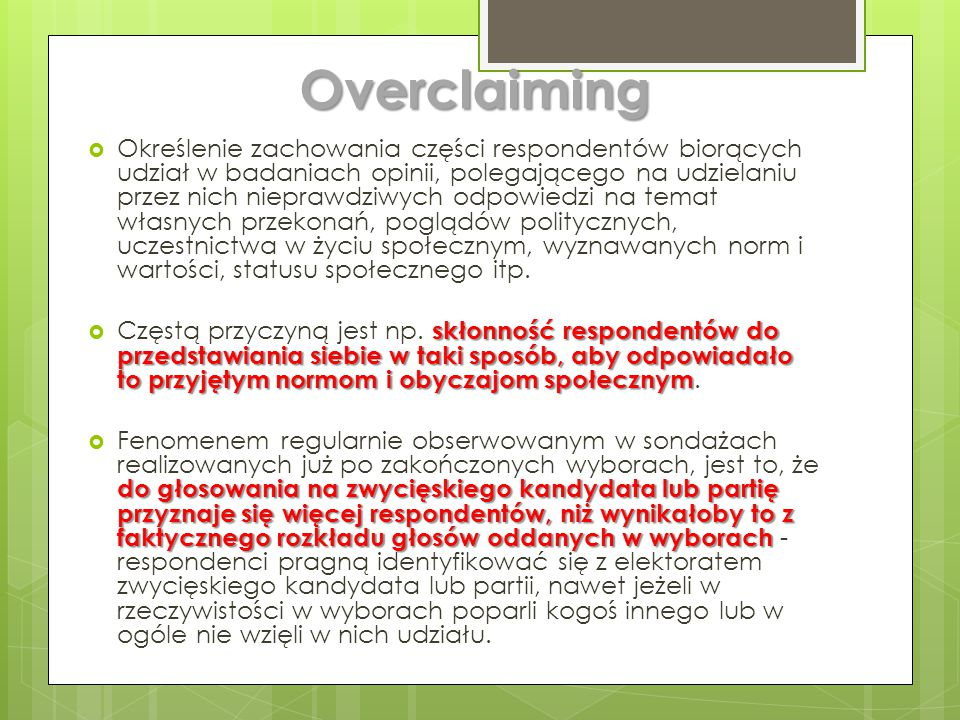 Overclaiming