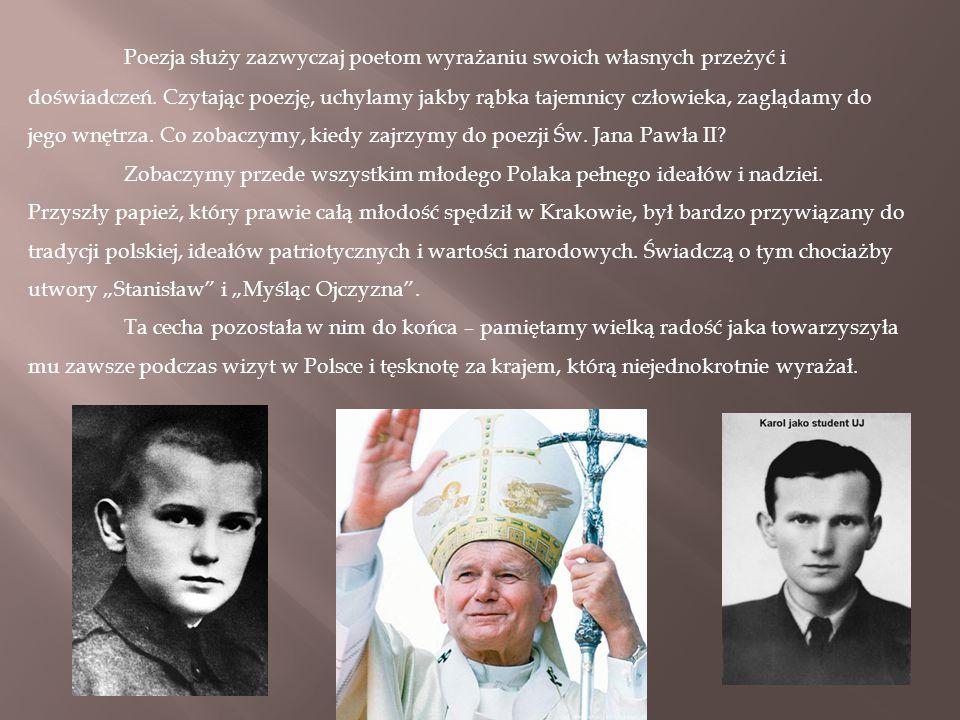 Poezja św Jana Pawła Ii Mateusz Wołcz Klasa Vc Ppt Pobierz