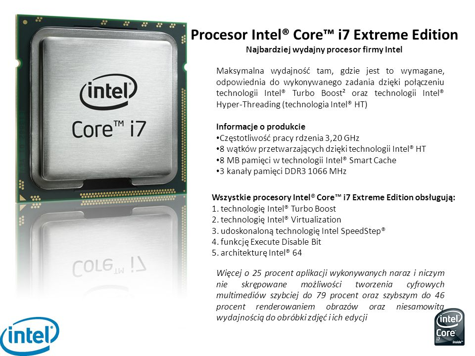 Procesor Intel® Core™ i7 Extreme Edition