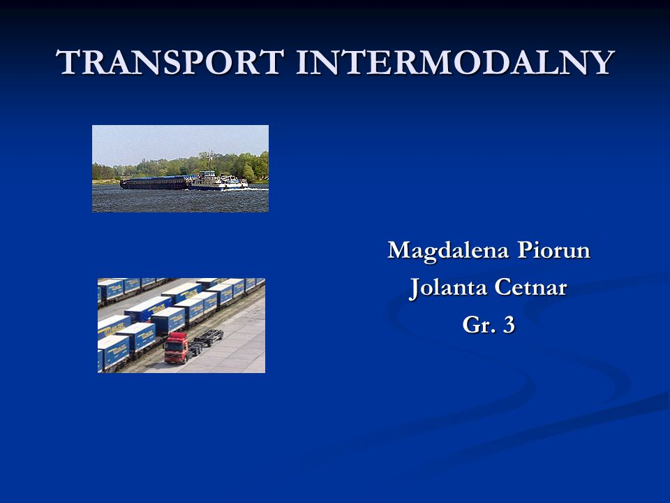 TRANSPORT INTERMODALNY