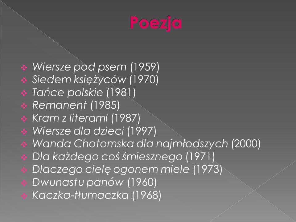 Wanda Chotomska Ppt Pobierz
