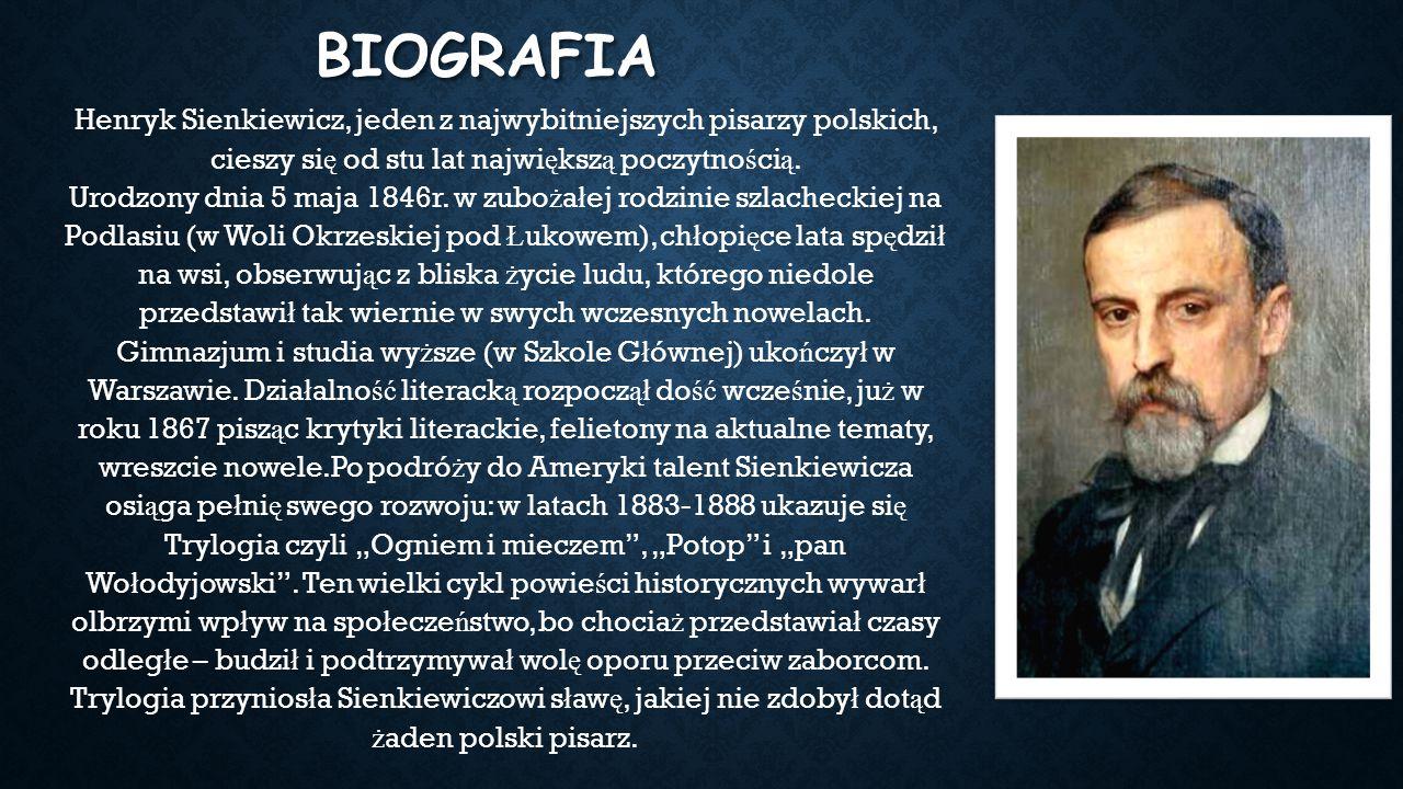 Henryk Sienkiewicz Ppt Pobierz