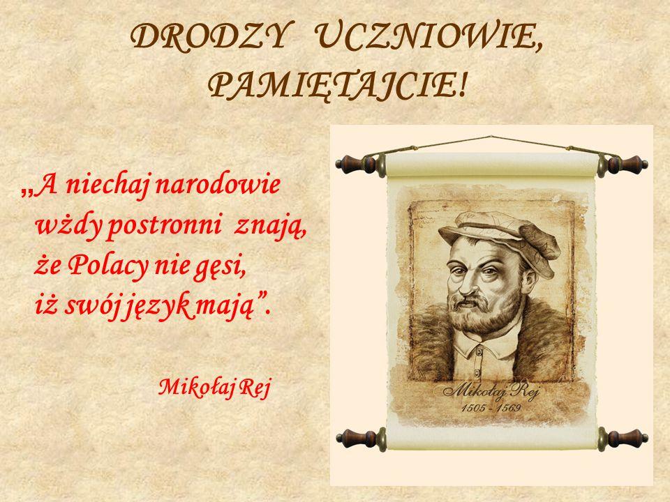 Znalezione obrazy dla zapytania A niechaj narodowie wżdy postronni znają, iż Polacy nie gęsi, iż swój język mają.