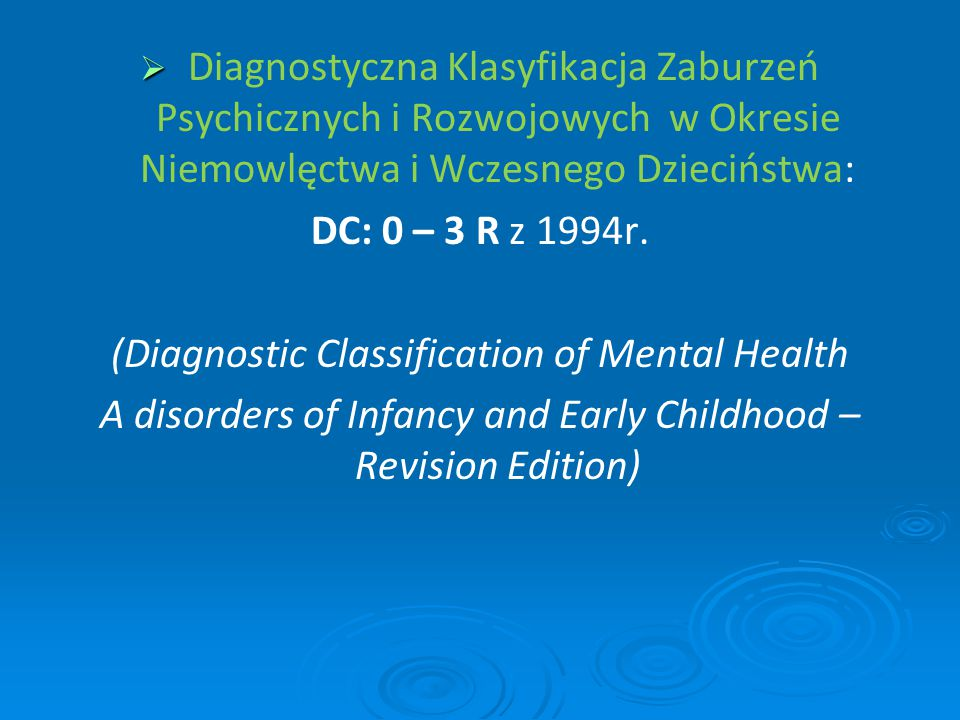 (Diagnostic Classification of Mental Health