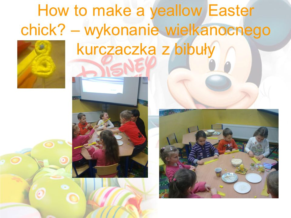 How to make a yeallow Easter chick