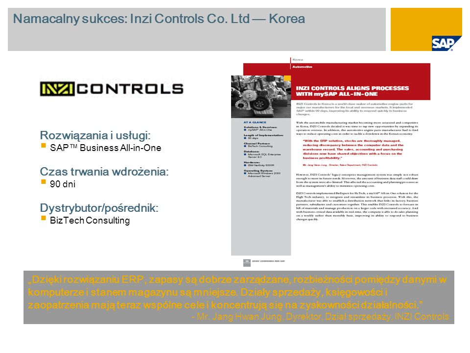 Namacalny sukces: Inzi Controls Co. Ltd — Korea