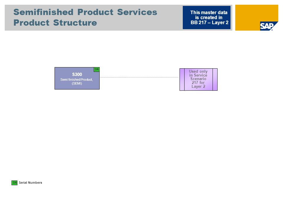 Semifinished Product Services Product Structure