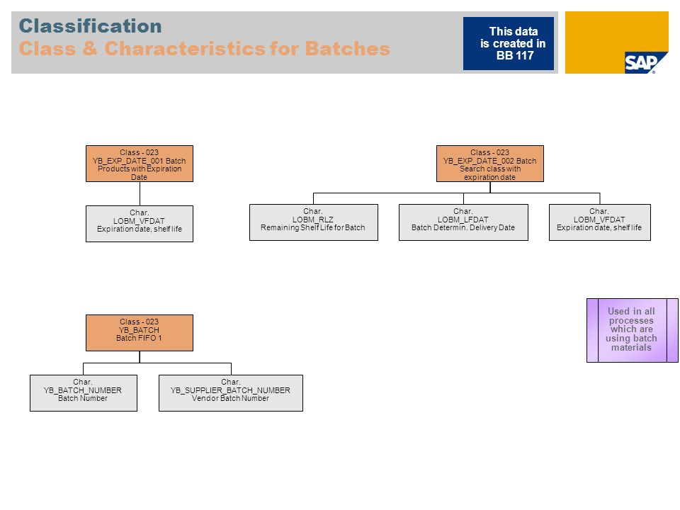Classification Class & Characteristics for Batches