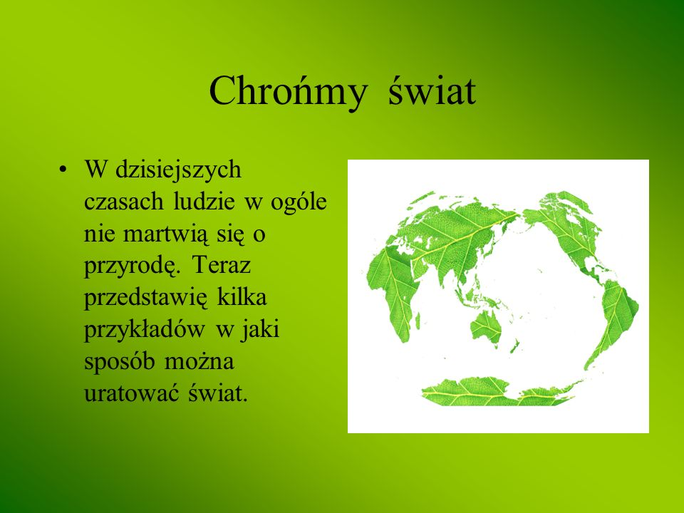Chrońmy świat