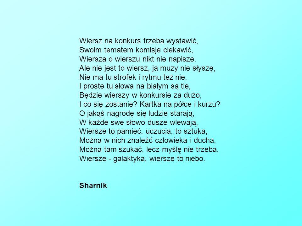 Konkurs Poetycki Wiersze Nadesłane Przez Studentów Ppt