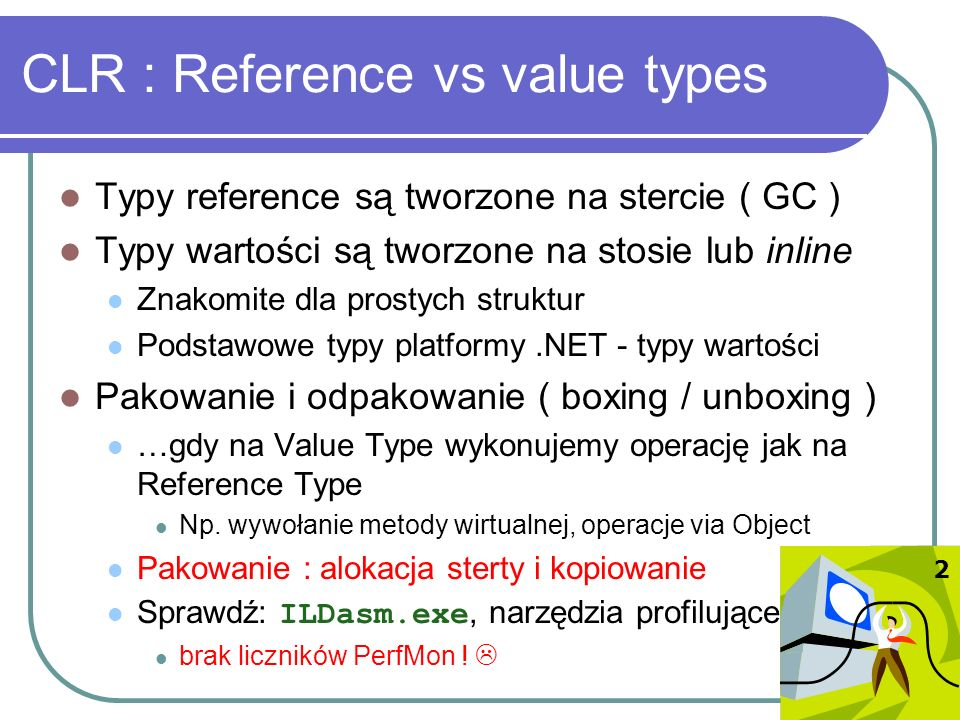 CLR : Reference vs value types