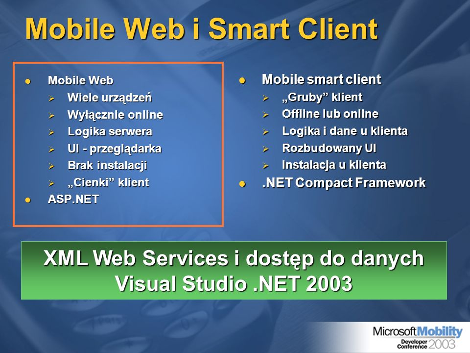 Mobile Web i Smart Client