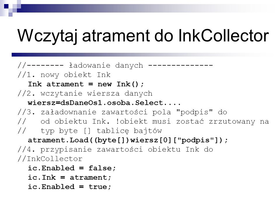 Wczytaj atrament do InkCollector