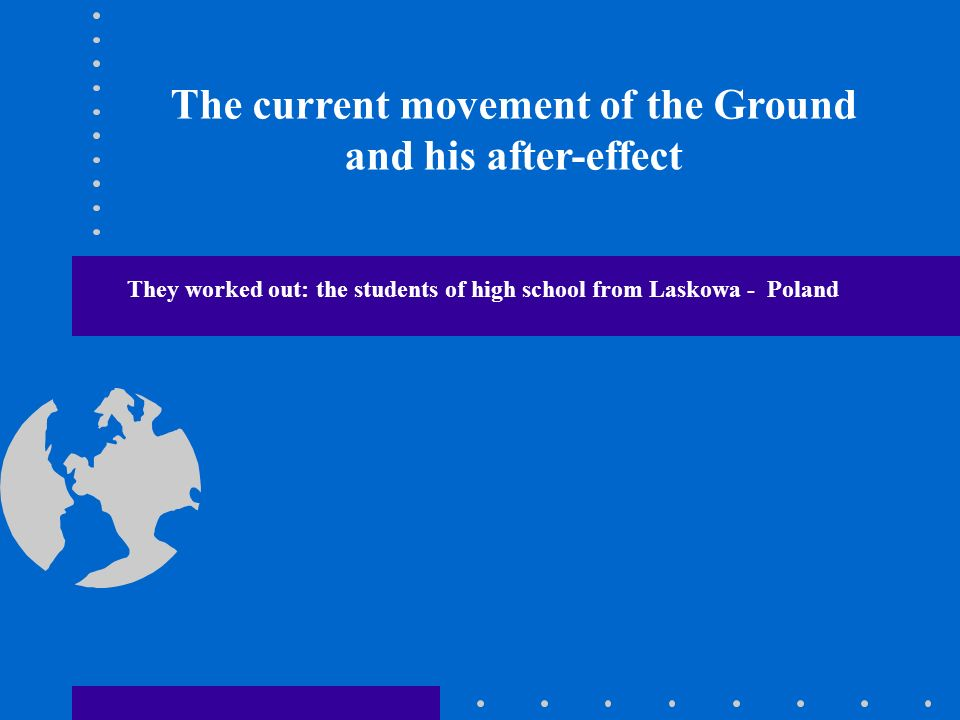 The current movement of the Ground and his after-effect