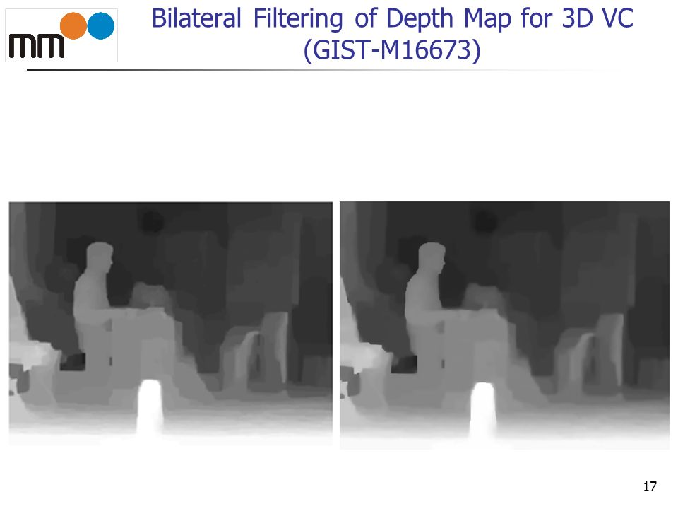 Bilateral Filtering of Depth Map for 3D VC (GIST-M16673)
