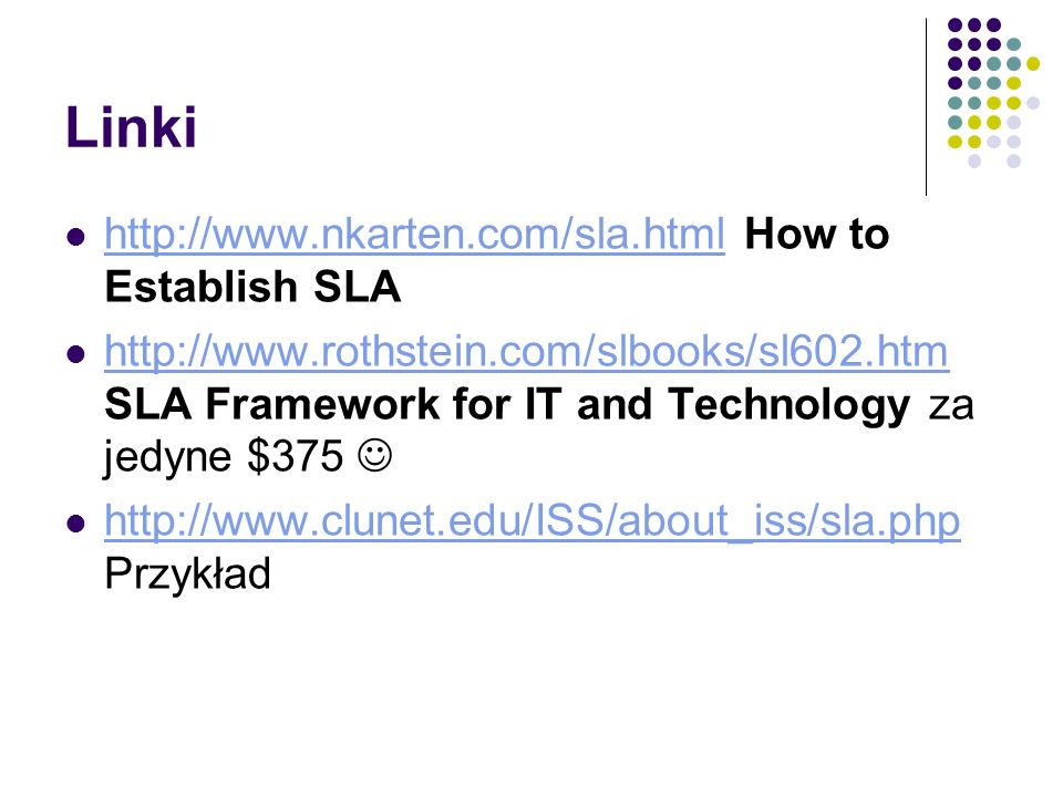 Linki   How to Establish SLA