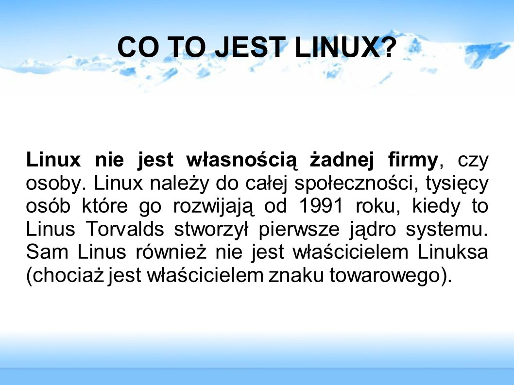 CO TO JEST LINUX