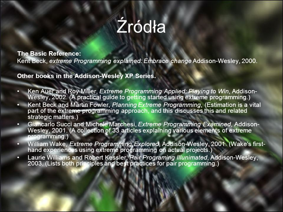 Źródła The Basic Reference: