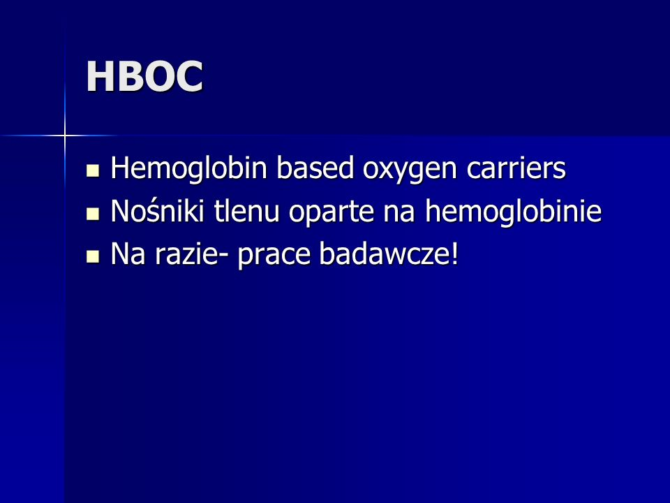 HBOC Hemoglobin based oxygen carriers