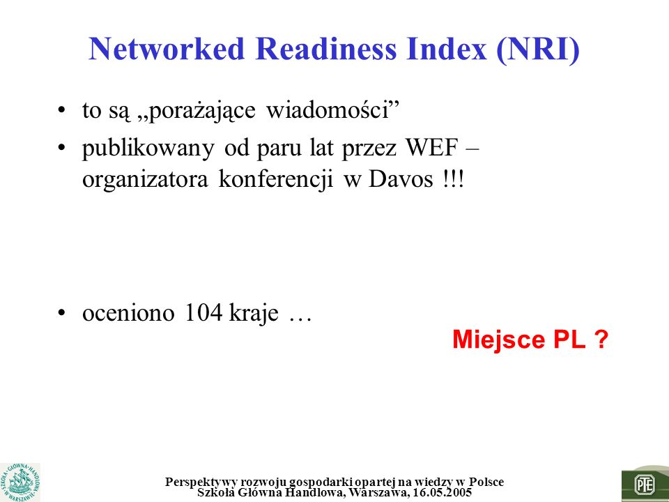Networked Readiness Index (NRI)
