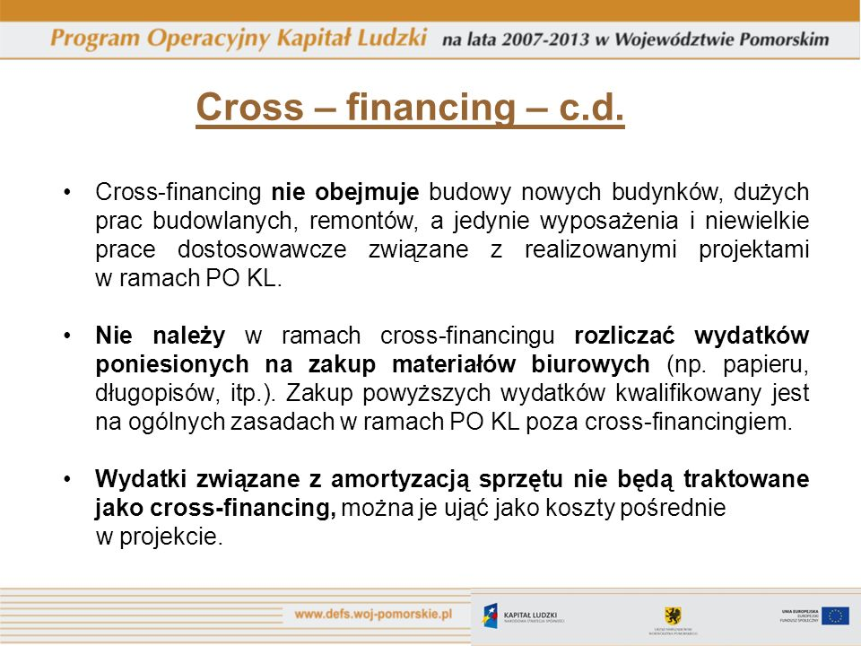 Cross – financing – c.d.