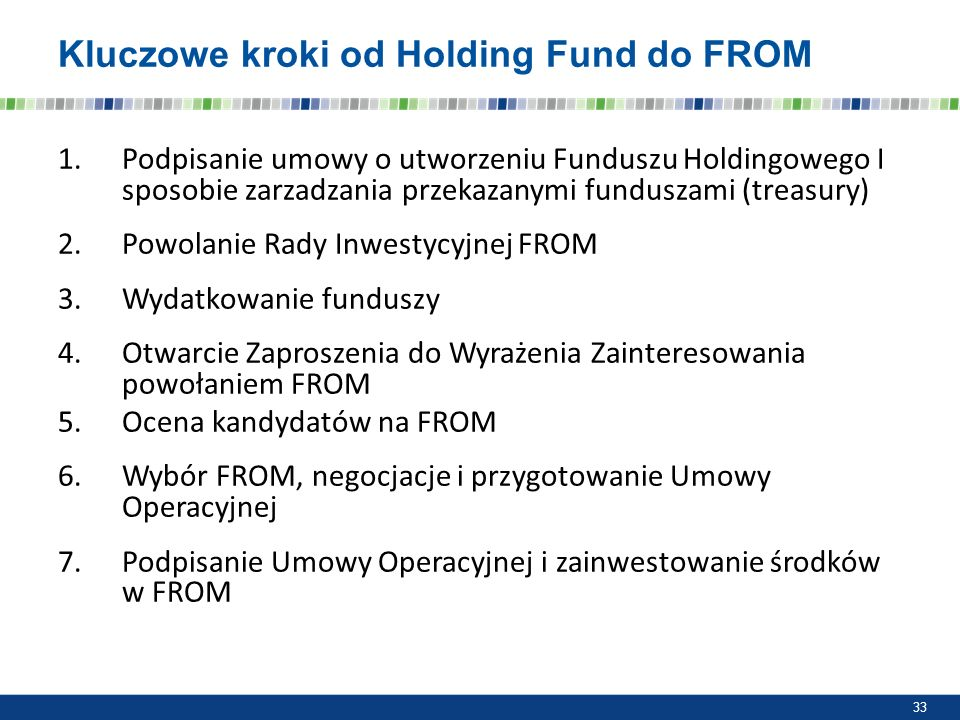 Kluczowe kroki od Holding Fund do FROM