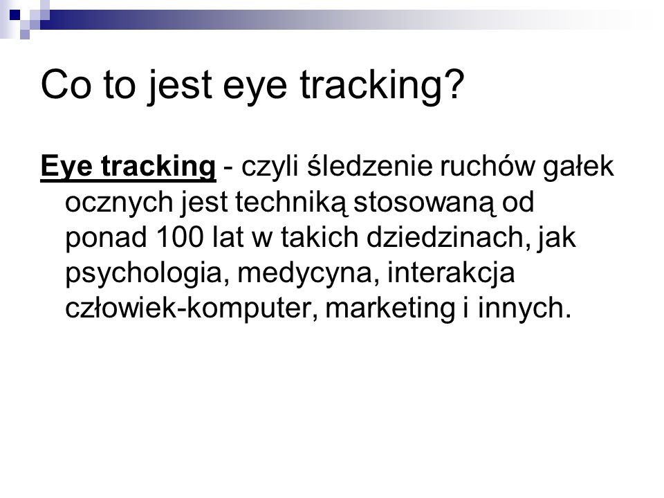 Co to jest eye tracking