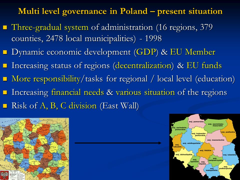 Multi level governance in Poland – present situation