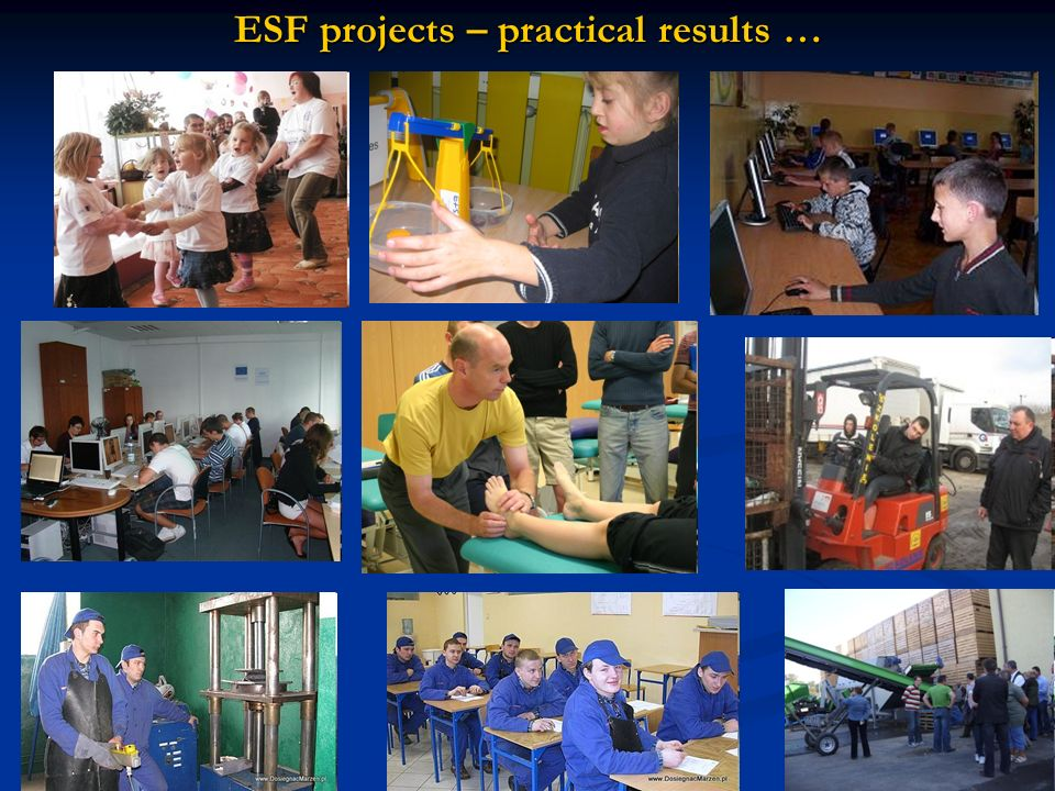 ESF projects – practical results …