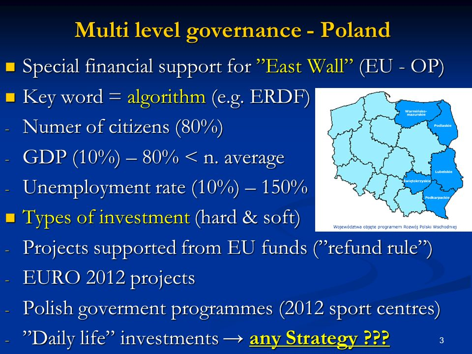 Multi level governance - Poland