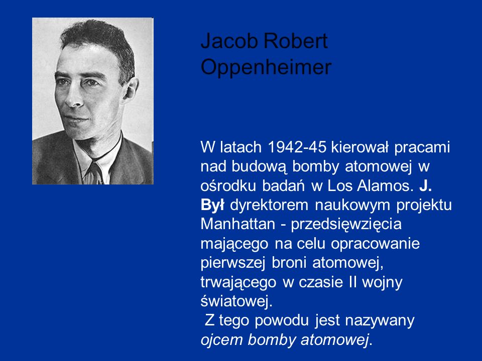 Jacob Robert Oppenheimer