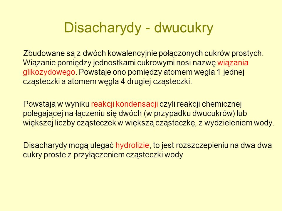 Disacharydy - dwucukry
