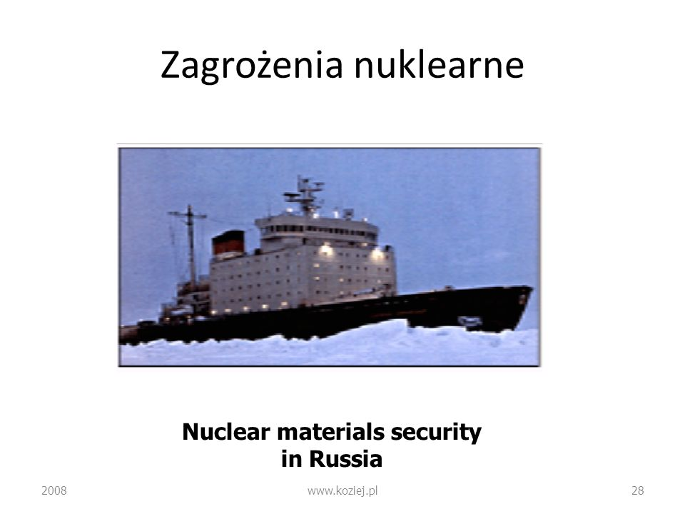 Nuclear materials security