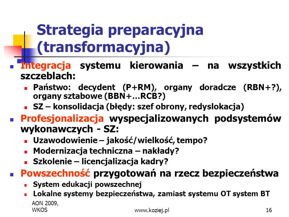 Strategia preparacyjna (transformacyjna)