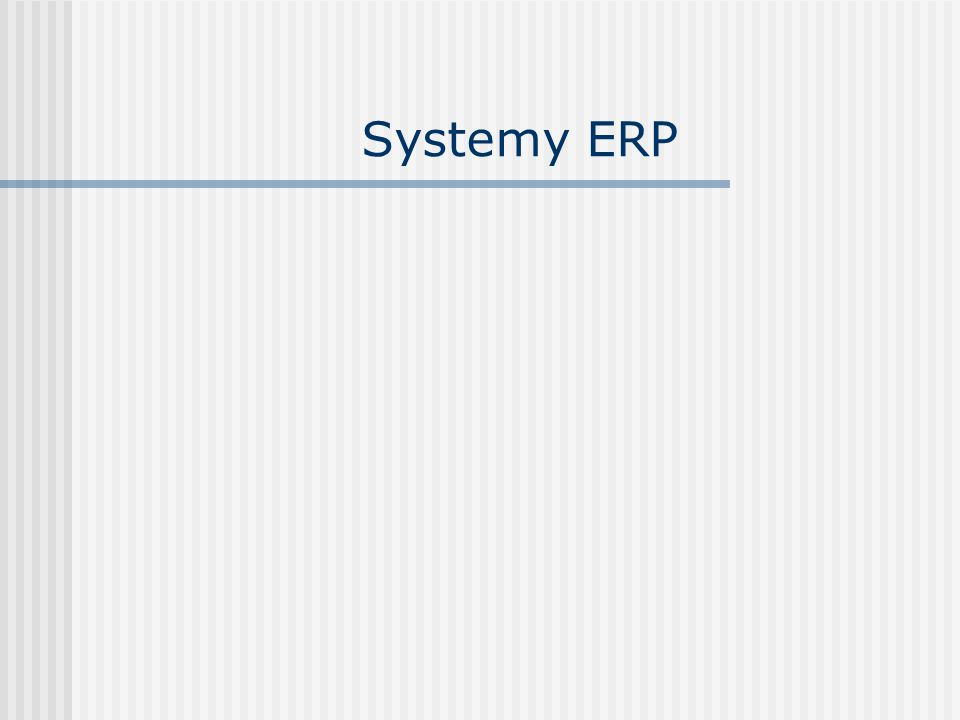 Systemy ERP