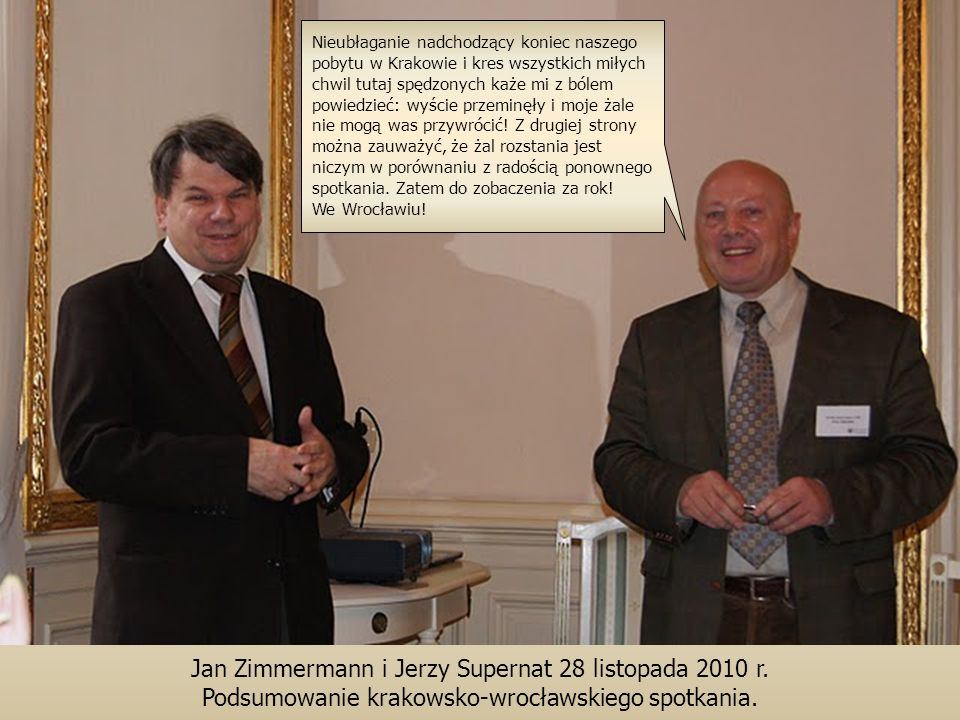 Jan Zimmermann i Jerzy Supernat 28 listopada 2010 r.